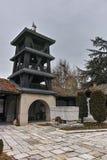 SKOPJE, DIE REPUBLIK MAZEDONIEN - 24. FEBRUAR 2018: Orthodoxe Kirche der Besteigung von Jesus in Skopje Stockfotografie