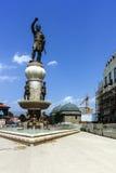 SKOPJE, DIE REPUBLIK MAZEDONIEN - 13. MAI 2017: Philip II von Macedon-Monument in Skopje Stockbild
