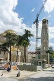 SKOPJE, DIE REPUBLIK MAZEDONIEN - 13. MAI 2017: St. Constantine und Elena Church in der Stadt von Skopje Lizenzfreie Stockbilder