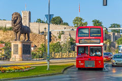 Skopje Double Decker bus Royalty Free Stock Images