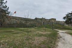 SKOPJE, EL REPÚBLICA DE MACEDONIA - 24 DE FEBRERO DE 2018: Fortaleza de la col rizada de la fortaleza de Skopje en la ciudad viej Fotos de archivo