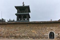 SKOPJE, EL REPÚBLICA DE MACEDONIA - 24 DE FEBRERO DE 2018: Iglesia ortodoxa de la ascensión de Jesús en Skopje Fotografía de archivo libre de regalías