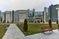 SKOPJE, EL REPÚBLICA DE MACEDONIA - 24 DE FEBRERO DE 2018: Museo del holocausto en la ciudad de Skopje Fotografía de archivo libre de regalías