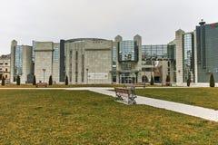 SKOPJE, EL REPÚBLICA DE MACEDONIA - 24 DE FEBRERO DE 2018: Museo del holocausto en la ciudad de Skopje Fotos de archivo libres de regalías