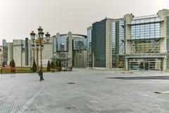 SKOPJE, EL REPÚBLICA DE MACEDONIA - 24 DE FEBRERO DE 2018: Museo del holocausto en la ciudad de Skopje Fotos de archivo