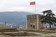 Skopje-Festung Kohlfestung in der alten Stadt, die Republik Mazedonien stockfotografie