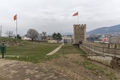 Skopje-Festung Kohlfestung in der alten Stadt, die Republik Mazedonien stockbilder
