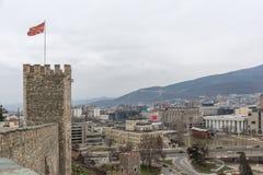 Skopje-Festung Kohlfestung in der alten Stadt, die Republik Mazedonien stockfoto