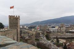 Skopje-Festung Kohlfestung in der alten Stadt, die Republik Mazedonien lizenzfreies stockbild