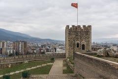 Skopje-Festung Kohlfestung in der alten Stadt, die Republik Mazedonien lizenzfreie stockfotos