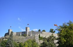 Skopje-Festung Kohlfestung in der alten Stadt der Hauptstadt von Mazedonien stockbilder