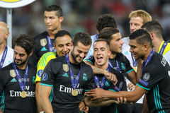 REAL MADRID V MANCHESTER UNITED: UEFA SUPER CUP Royalty Free Stock Photography