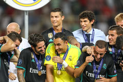 REAL MADRID V MANCHESTER UNITED: UEFA SUPER CUP Royalty Free Stock Image