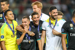 REAL MADRID V MANCHESTER UNITED: UEFA SUPER CUP Royalty Free Stock Images