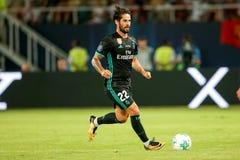 REAL MADRID V MANCHESTER UNITED: UEFA SUPER CUP Stock Images