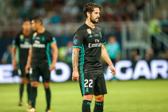 REAL MADRID V MANCHESTER UNITED: UEFA SUPER CUP. Skopje, FYROM - August 8,2017: Real Madrid Isco during the UEFA Super Cup Final match between Real Madrid and Stock Photos