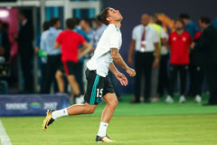 REAL MADRID V MANCHESTER UNITED: UEFA SUPER CUP Stock Image