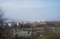 Skopje gesehen von der Kohl-Festung stockbild