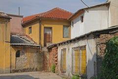 Skopje-Häuser stockfotos