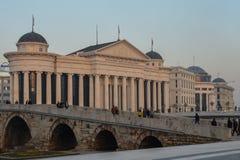 Skopje - Hauptstadt der Republiks Mazedonien Lizenzfreie Stockfotografie