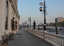 Skopje - huvudstad av Republiken Makedonien Royaltyfri Fotografi