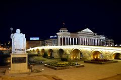 Skopje, Macedonia lizenzfreies stockfoto