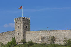 SKOPJE, MACEDONIA - APRIL 15: Kale Fortress is a historic fortre Stock Image