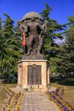 The Monument of the Defenders of Macedonia at Zena Park, Skopje, Stock Images