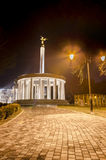 Skopje, Macedonia fire torch and marble monument of heroes Stock Images