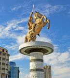 Skopje, Macedonia - Alexander the Great Monument royalty free stock images