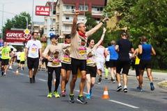 Skopje-Marathon 2018 lizenzfreie stockbilder