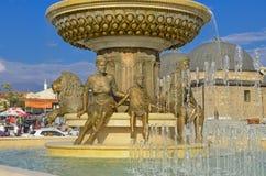 Skopje, Mazedonien - Brunnen lizenzfreie stockfotografie