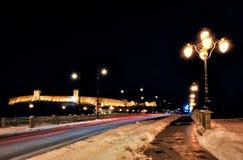 Skopje night scene Stock Photo