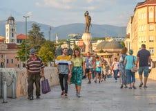 SKOPJE, NORD-MACEDONIA AM 22. AUGUST 2018 lizenzfreies stockbild