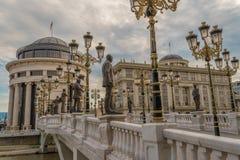 Skopje, oficina del ` s del fiscal del República de Macedonia fotografía de archivo