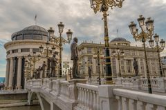 Skopje, oskarżyciela publicznego ` s republika Macedonia biuro fotografia stock