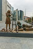 SKOPJE, RÉPUBLIQUE DE MACÉDOINE - 24 FÉVRIER 2018 : Musée d'holocauste dans la ville de Skopje Images libres de droits