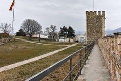 SKOPJE, A REPÚBLICA DA MACEDÔNIA - 24 DE FEVEREIRO DE 2018: Fortaleza da couve da fortaleza de Skopje na cidade velha Fotografia de Stock