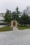 SKOPJE, A REPÚBLICA DA MACEDÔNIA - 24 DE FEVEREIRO DE 2018: Monumento no centro da cidade de Skopje Imagens de Stock