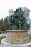 SKOPJE, A REPÚBLICA DA MACEDÔNIA - 24 DE FEVEREIRO DE 2018: Monumento no centro da cidade de Skopje Imagem de Stock