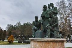 SKOPJE, A REPÚBLICA DA MACEDÔNIA - 24 DE FEVEREIRO DE 2018: Monumento no centro da cidade de Skopje Fotos de Stock