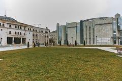 SKOPJE, A REPÚBLICA DA MACEDÔNIA - 24 DE FEVEREIRO DE 2018: Museu do holocausto na cidade de Skopje Foto de Stock