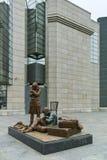 SKOPJE, A REPÚBLICA DA MACEDÔNIA - 24 DE FEVEREIRO DE 2018: Museu do holocausto na cidade de Skopje Imagem de Stock