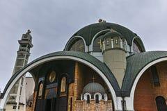 SKOPJE, A REPÚBLICA DA MACEDÔNIA - 24 DE FEVEREIRO DE 2018: St Clement da igreja de Ohrid na cidade de Skopje Foto de Stock Royalty Free