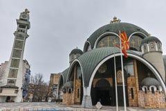 SKOPJE, A REPÚBLICA DA MACEDÔNIA - 24 DE FEVEREIRO DE 2018: St Clement da igreja de Ohrid na cidade de Skopje Imagem de Stock