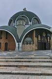 SKOPJE, A REPÚBLICA DA MACEDÔNIA - 24 DE FEVEREIRO DE 2018: St Clement da igreja de Ohrid na cidade de Skopje Imagem de Stock Royalty Free