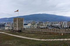 SKOPJE, REPUBBLICA MACEDONE - 24 FEBBRAIO 2018: Fortezza del cavolo della fortezza di Skopje in Città Vecchia Immagine Stock