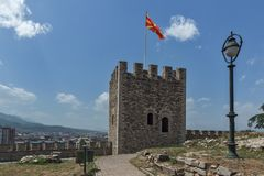 Skopje fortress Kale fortress in the Old Town, Republic of Macedonia Royalty Free Stock Photo