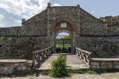 SKOPJE, REPUBLIEK VAN MACEDONIË - 13 MEI 2017: De Boerenkoolvesting van de Skopjevesting in de Oude Stad Royalty-vrije Stock Fotografie