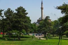 SKOPJE, REPUBLIEK VAN MACEDONIË - 13 MEI 2017: De Moskee van Mustafa Pasha ` s in Skopje Stock Fotografie